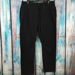 LRG Men's Seersucker Drawstring Knee Patch Jogger